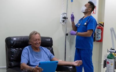 couple successfully fighting cancer in Puerto Vallarta at the Holistic Bio Spa with Low Dose Naltrexone