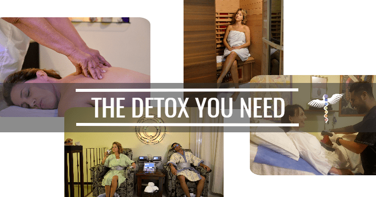 Collage of detox programs at the Holistic Bio Spa