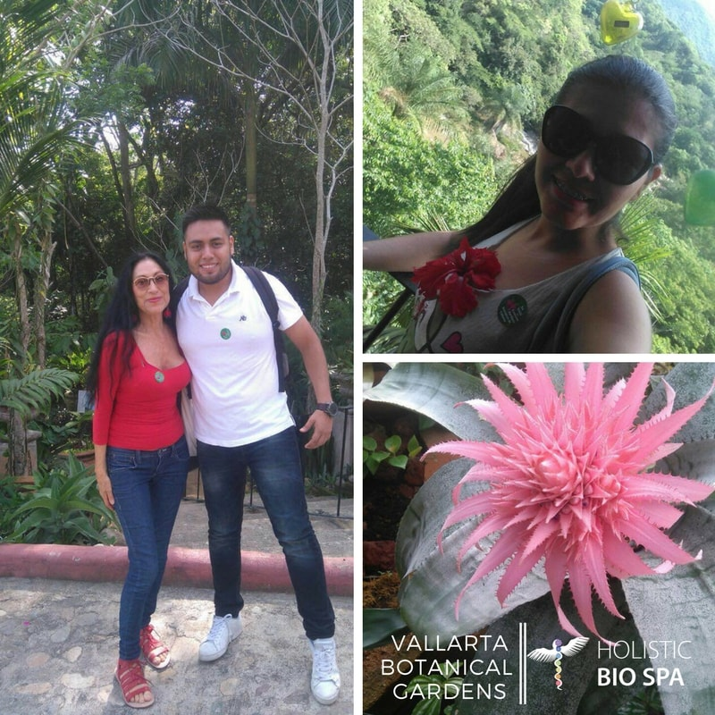 Alicia, Erik, and Anna from the Holistic Bio Spa enjoying the wonders of nature at Vallarta Botanical Gardens