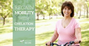 woman on her bicycle after chelation therapy