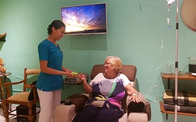 Our nurses will pamper you during your alternative cancer treatments in Mexico