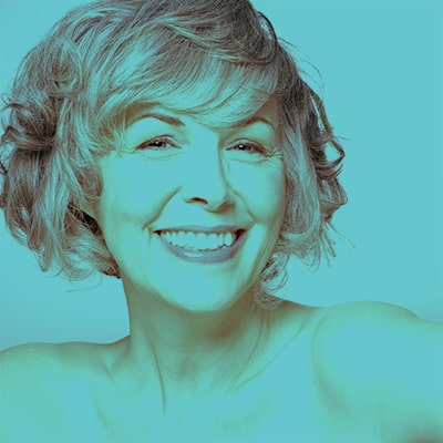 Beautiful senior woman with fresh tight skin - stem cells for anti-aging and rejuvenation