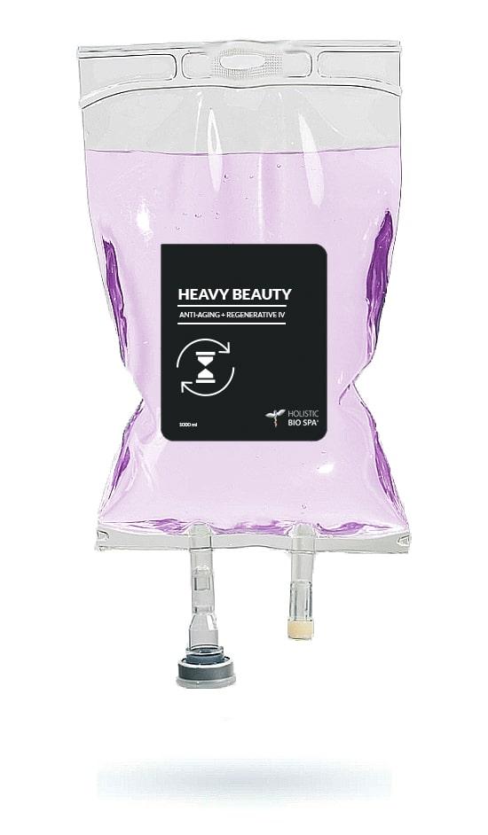 Anti-aging, regenerative, and beauty IV treatment drip bag in Puerto Vallarta