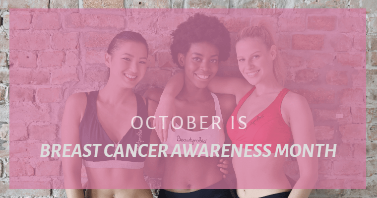 Healthy woman aware of breast cancer risk factors.