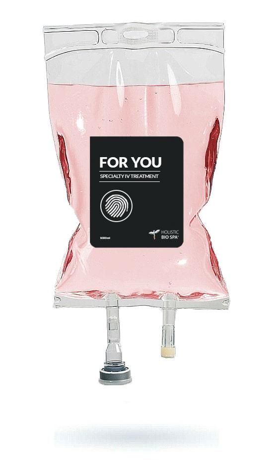 Doctor-prescribed custom IV drip therapy bag in Puerto Vallarta