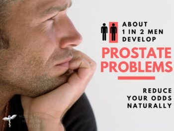image of mature man concerned about prostate problem
