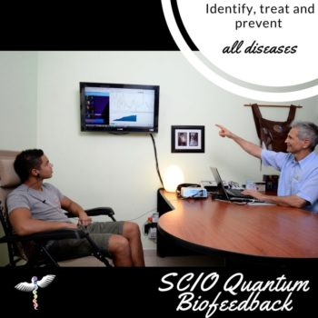 Naturopath MD explaining scio quantum therapy in PV for alternative cancer treatments