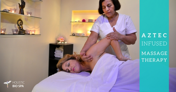 woman receiving a therapeutic massage at The Holistic Bio Spa in Puerto Vallarta