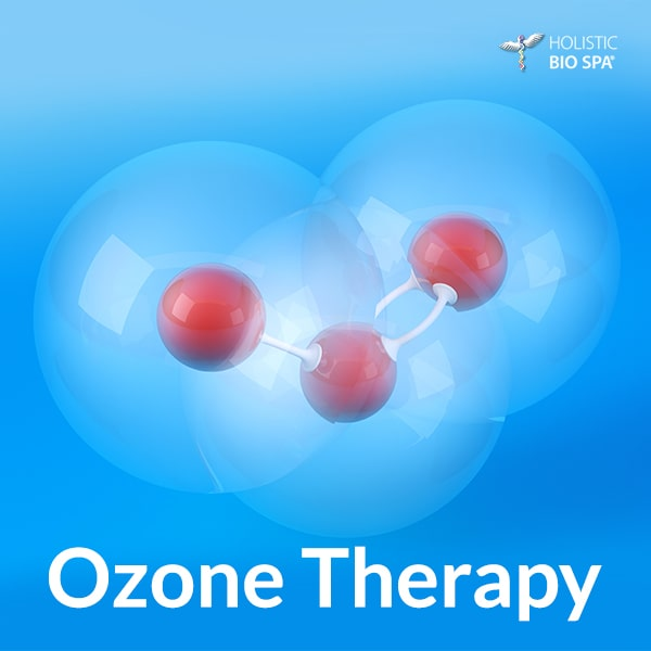 (O3) Ozone molecule is made of 3 oxygen molecules with an electrical current and used for ozone therapy at our alternative medicine center in Mexico
