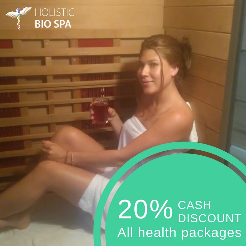 woman receiving an infrared sauna session in Mexico Medical Tourism