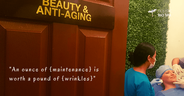 young woman receiving wrinkle fillers at the Holistic Bio Spa