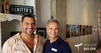 two men at Benitto's Paninoteca Bar